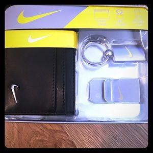 Nike card case, money clip & key chain